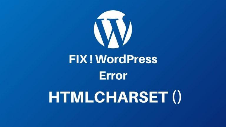 HTML Charset Error