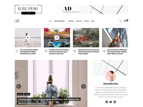 Blog Prime wordpress theme
