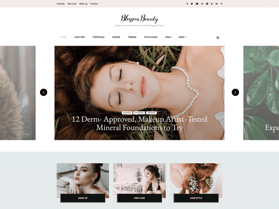 Blossom Beauty WordPress theme