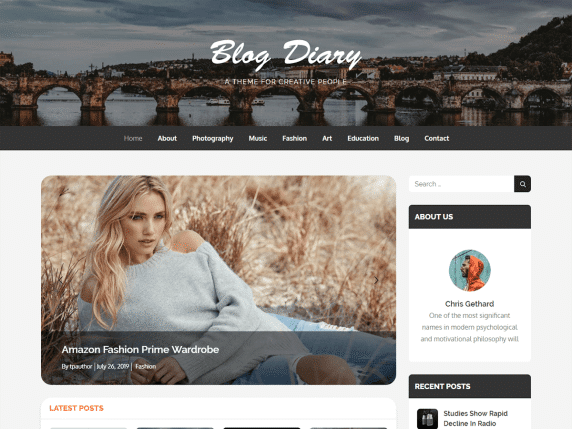 blogdiary wordpress website