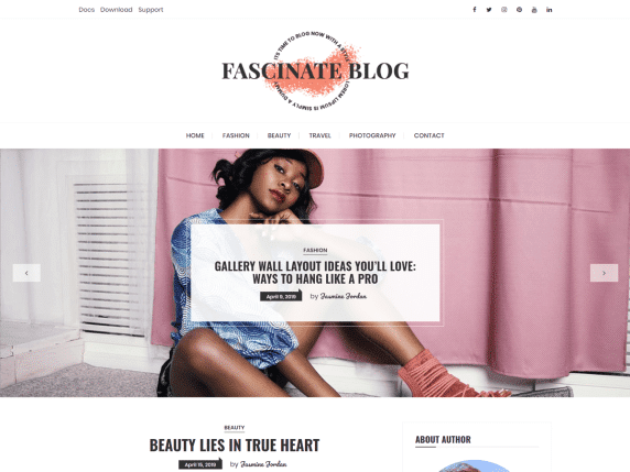 fascinate blog wordpress theme