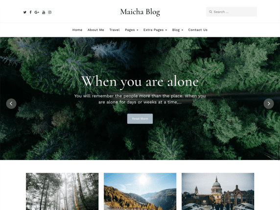 maicha blog wp theme