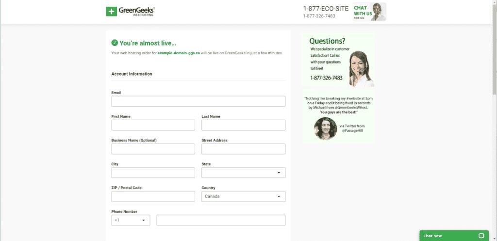 Start a Blog using greengeek under 30min